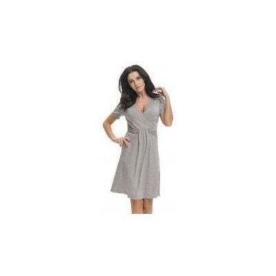 423e38d7ea8bdb Dn - doctor nap Bambusowa koszula nocna ciążowa i do karmienia dn - dark  grey
